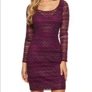 Guess purple/gold cocktail dress